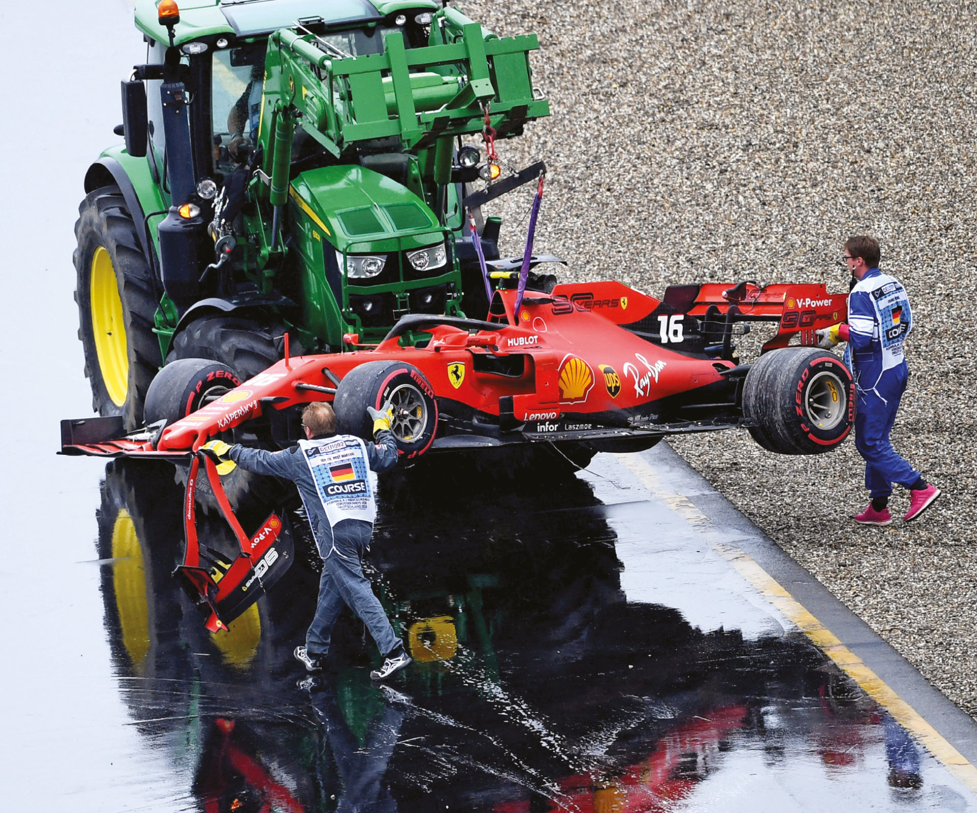 Leclerc throwing it off in Germany was one of Ferrari's slip ups that gave ground to Mercedes and Hamilton