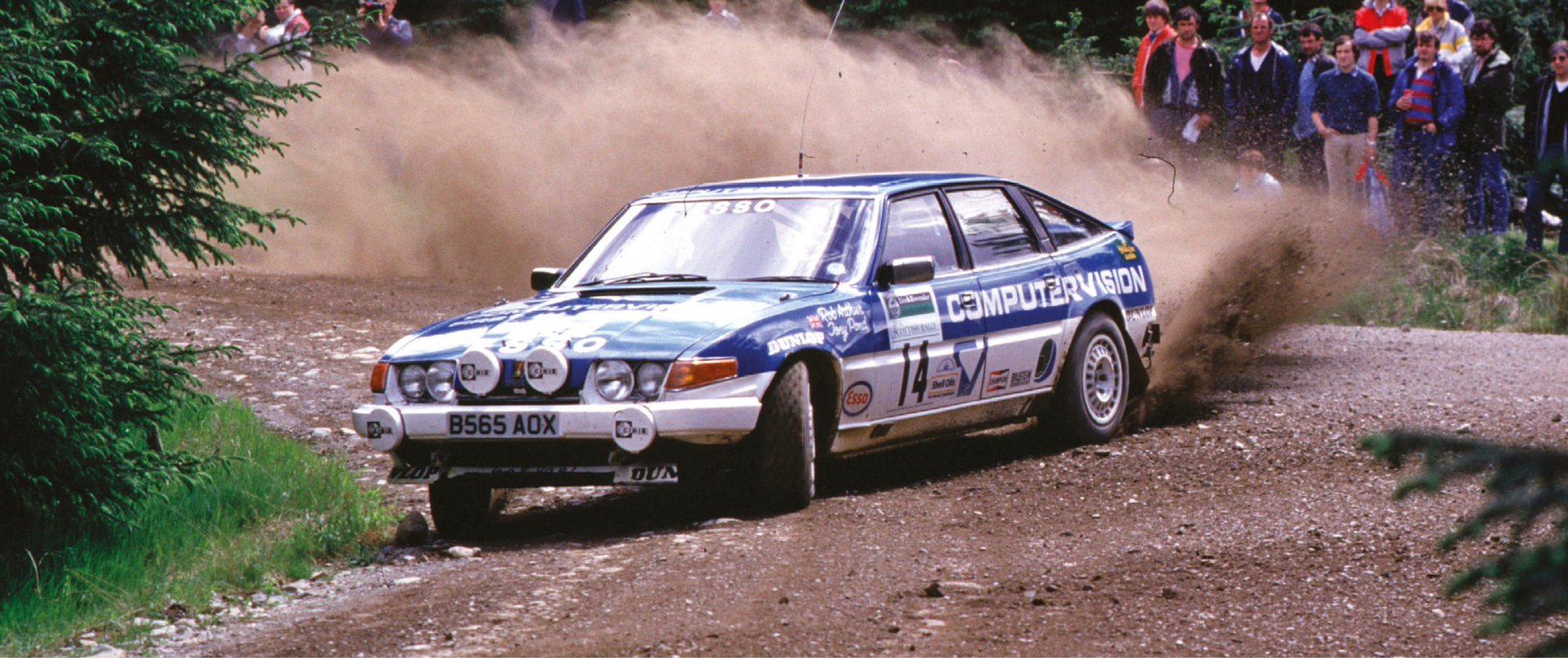 Not just for circuits! Tony Pond won his class on the 1985 Scottish Rally in a factory TWR entry