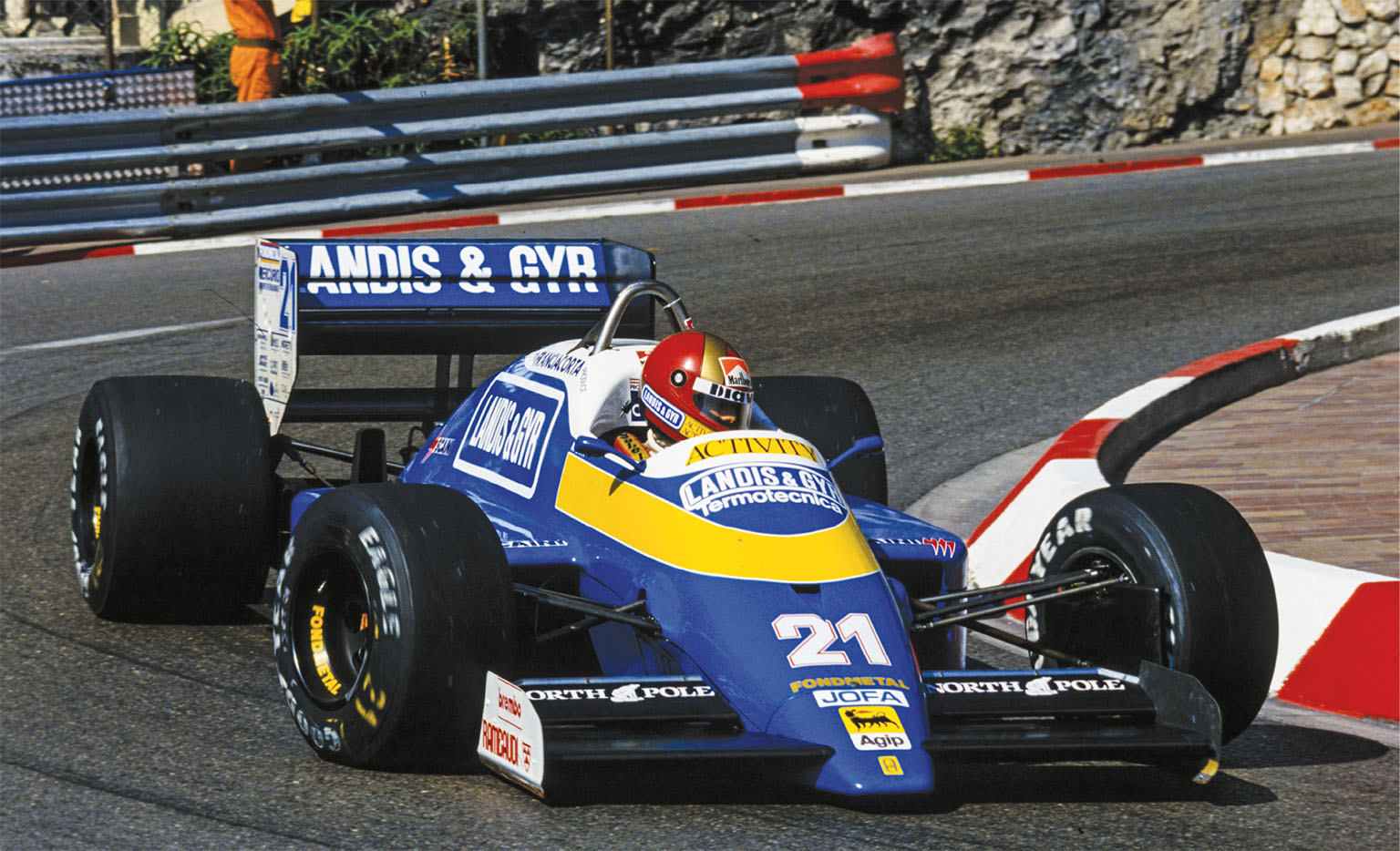 His first F1 season came with Osella in 1987