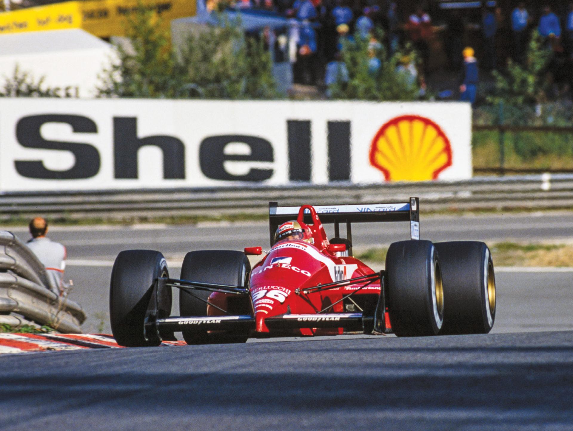 In action for Scuderia Italia in 1988