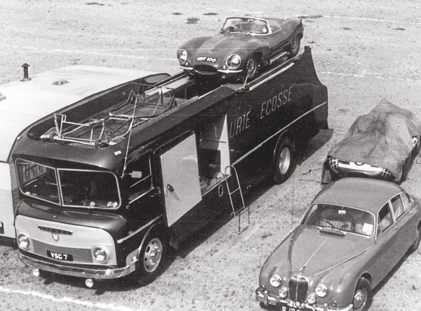 Ecurie Ecosse's transporter was arguably as famous as its cars. Here's the period team setup