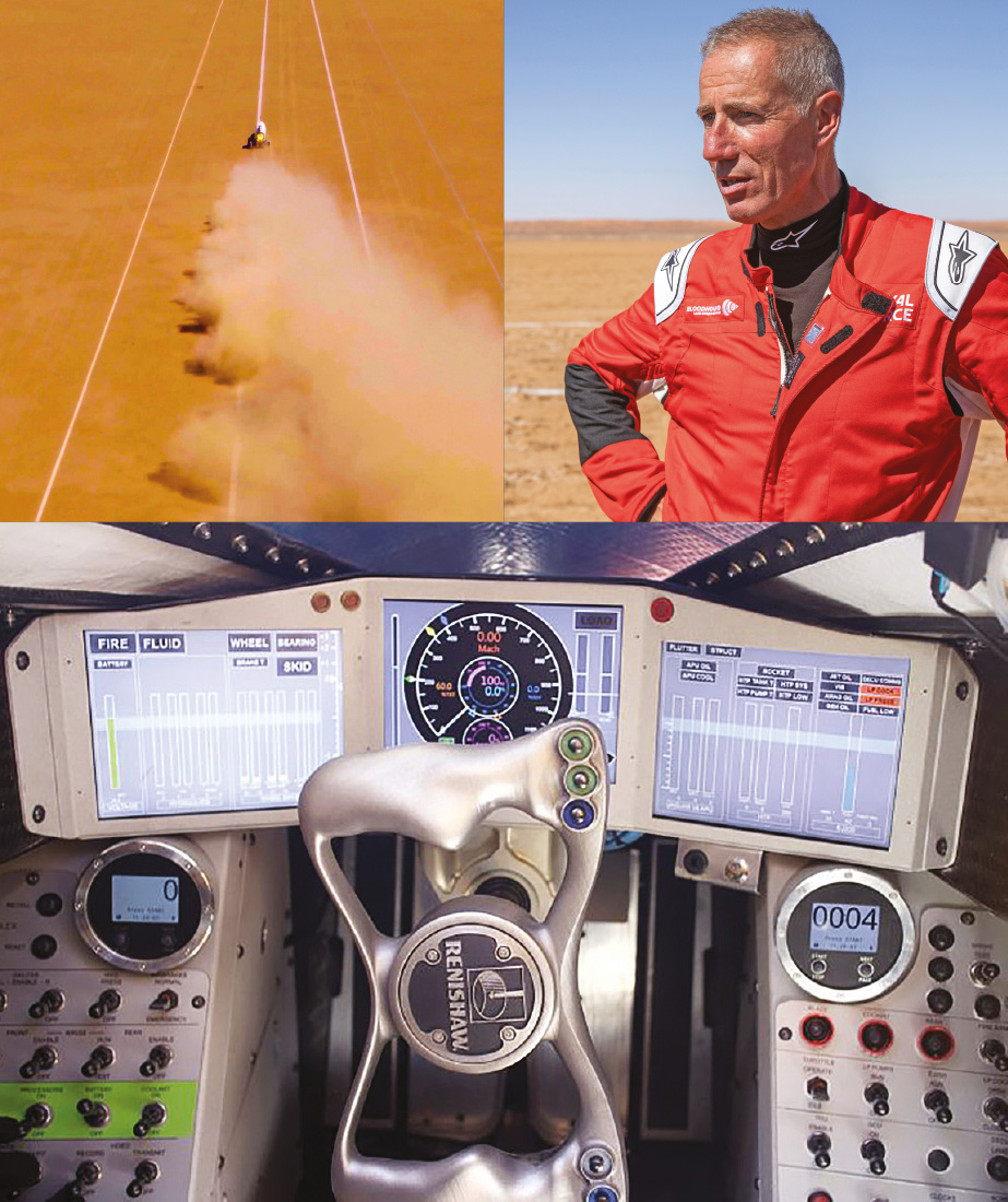 Wing Commander Andy Green has already taken Bloodhound above 600mph