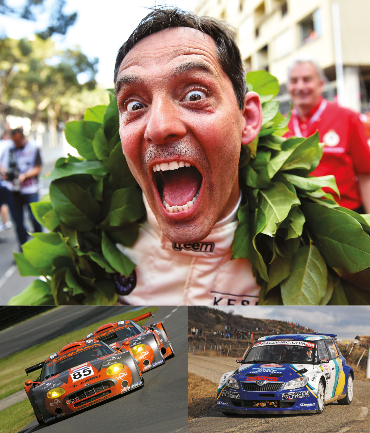 Caffi was a winner in the 2016 Monaco Historique. Le Mans with Spyker in 2007 and Intercontinental Rally Challenge with Škoda