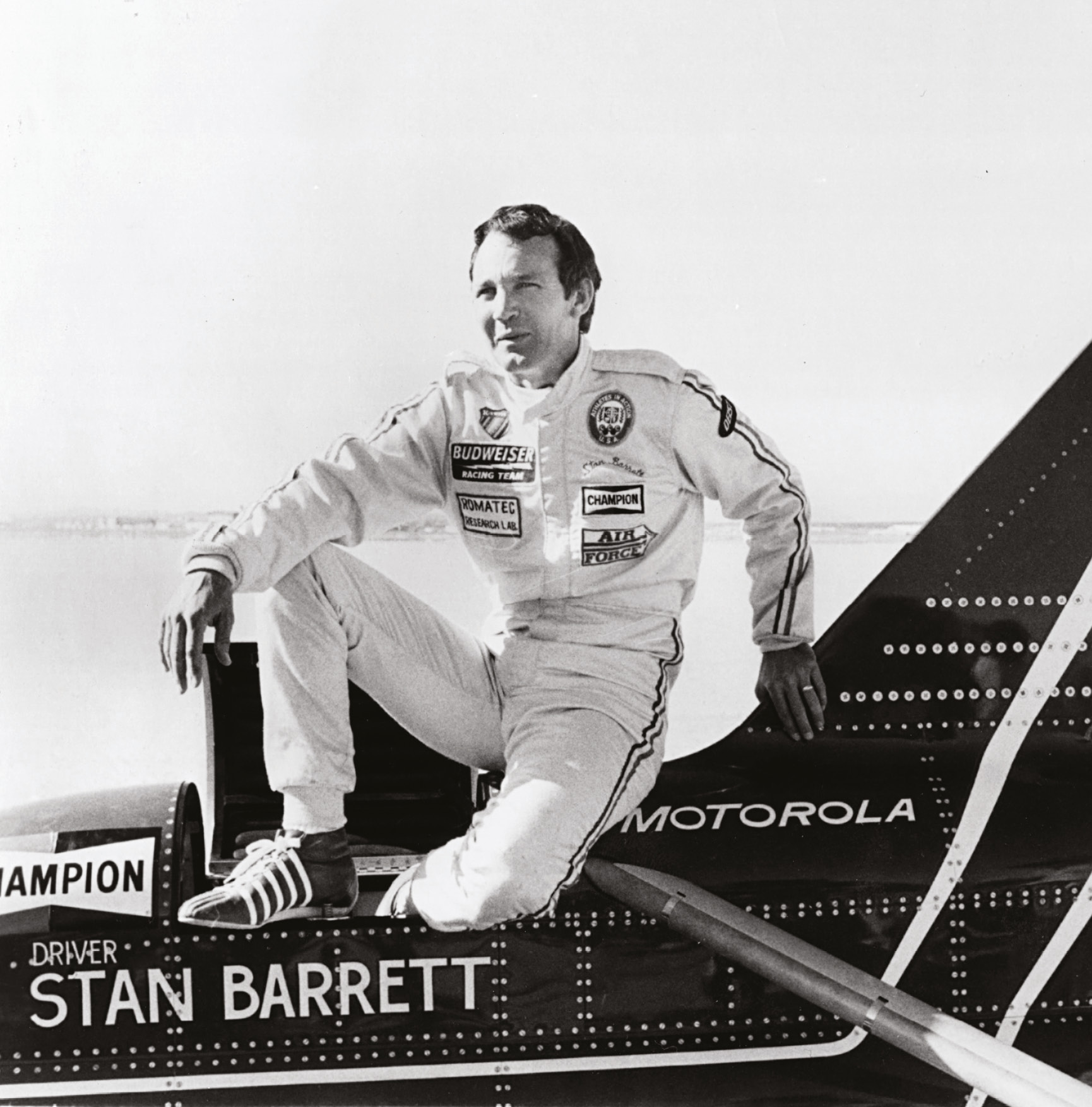 Barrett and the Rocket's run (right) might have been dismissed by critics, but he still thinks of himself as the first man to break the sound barrier