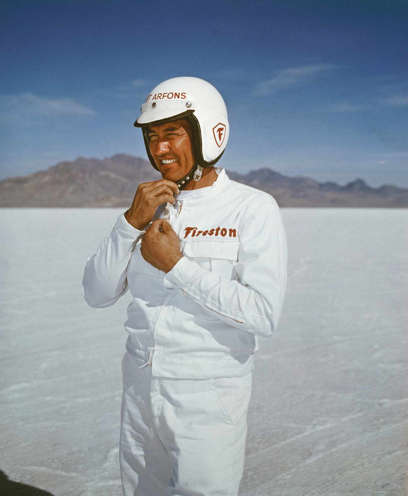 Art Arfons set the land speed record three times between 1964-65 with the Green Monster jet-powered cars. Walt is credited with introducing parachutes to slow drag racing cars