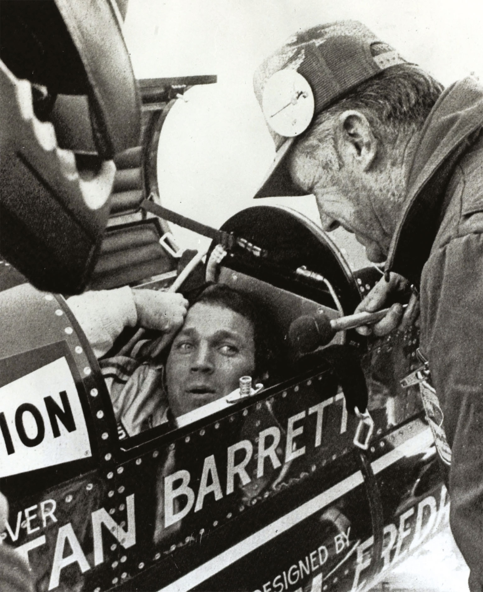 Stan Barrett was a film stunt man who had never driven faster than 150mph when he joined the Rocket record bid