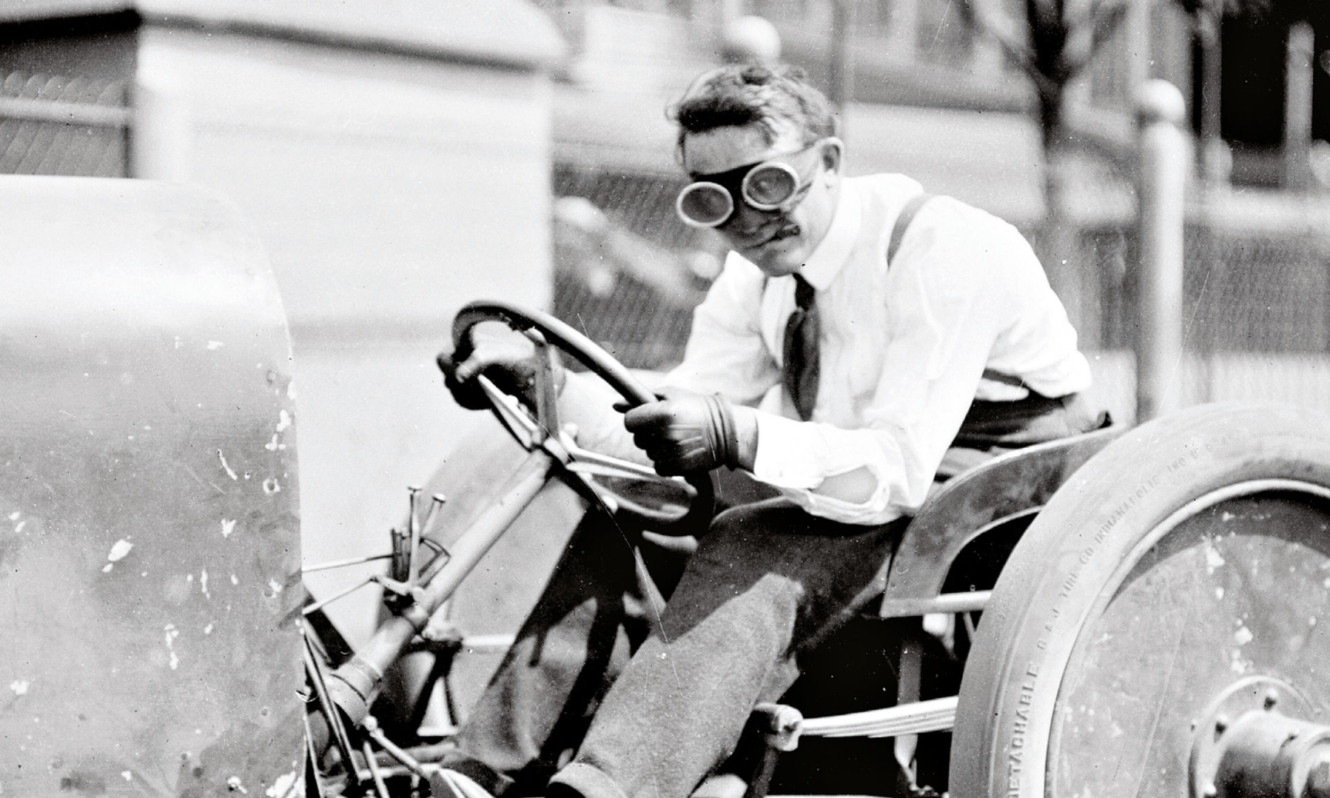 Barney Oldfield's legacy includes inspiring many young drivers, including Karl Kimball