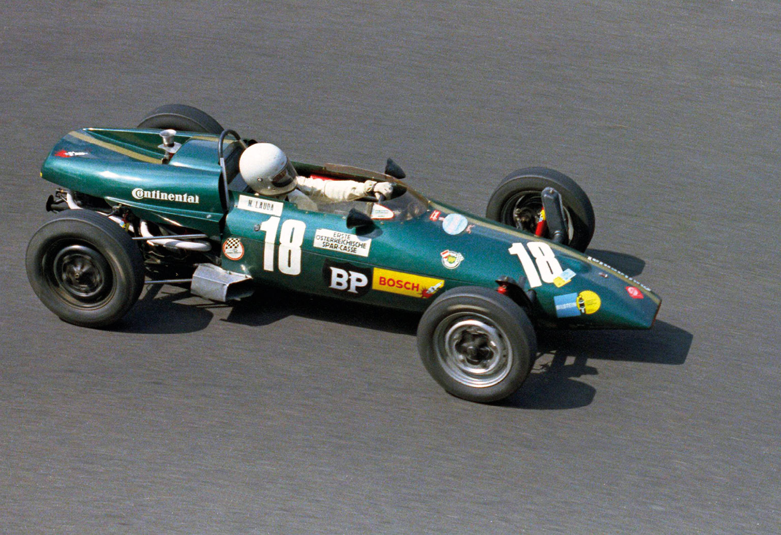 Lauda's first single-seater exploits came in a works Kaimann Formula Vee, where he battled hard with Helmut Marko