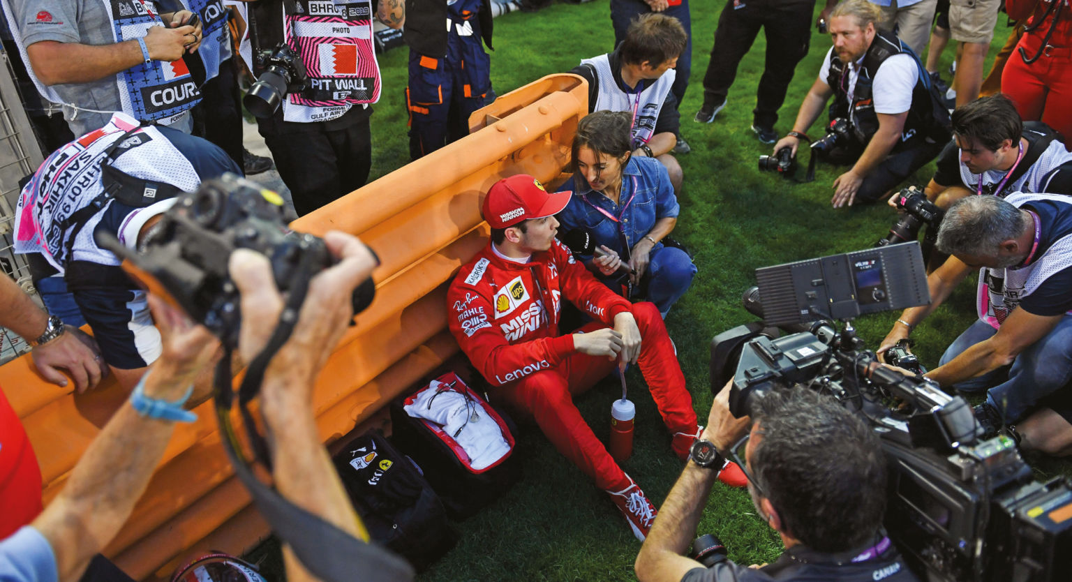 A scene of calm, despite sitting on his maiden pole position in Bahrain