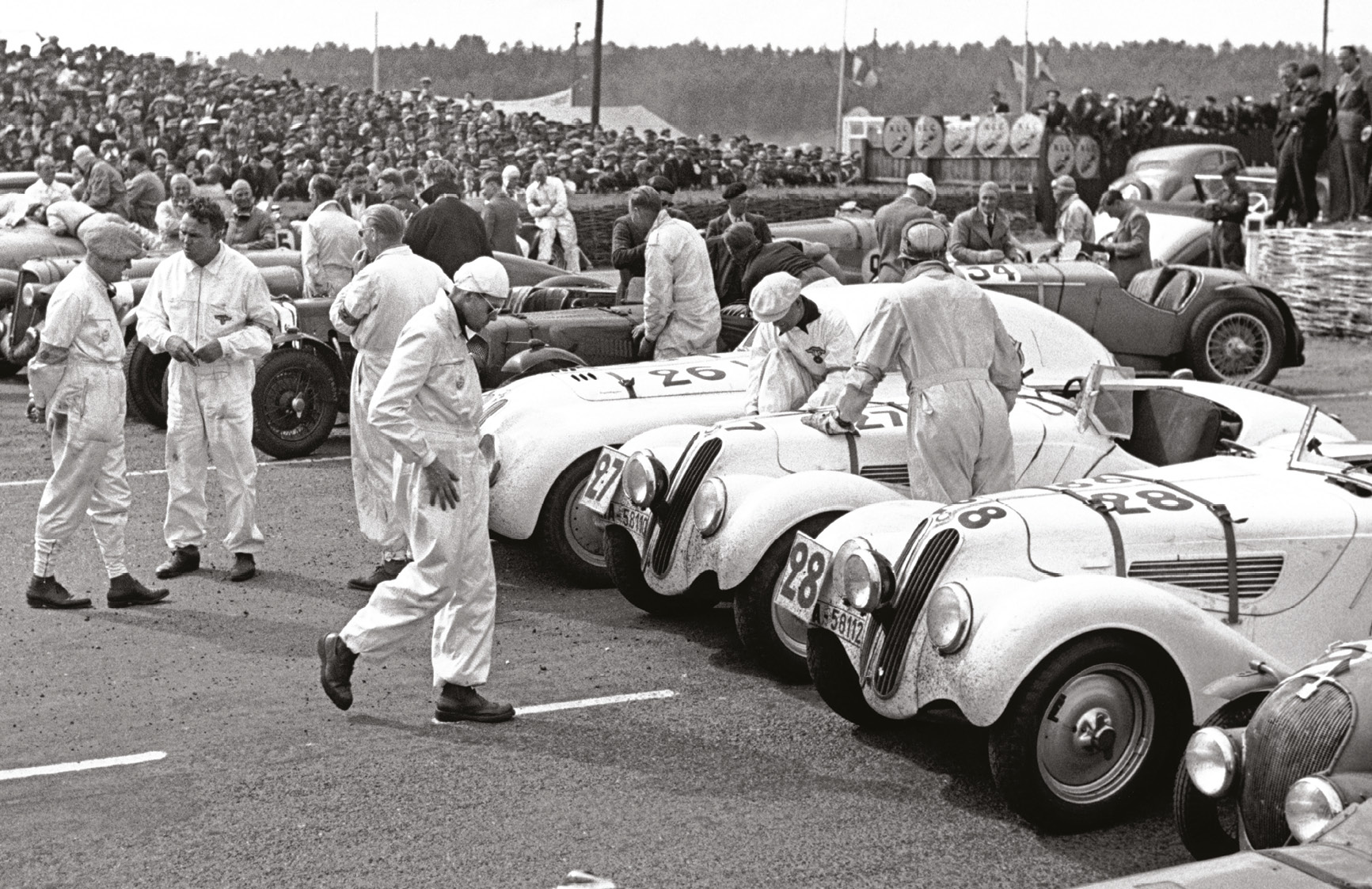 BMW 328 roadsters would take 1-2-3 in class in the 1939 Le Mans 24 Hours