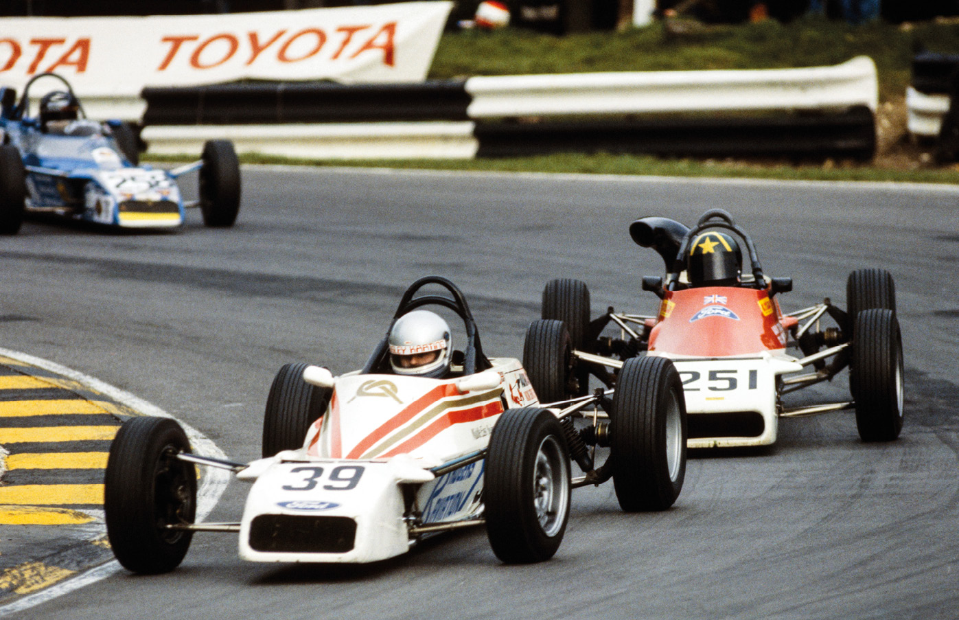Harvey joined Formula Ford 1600 in 1983 with a Van Diemen. His current car is still number 39