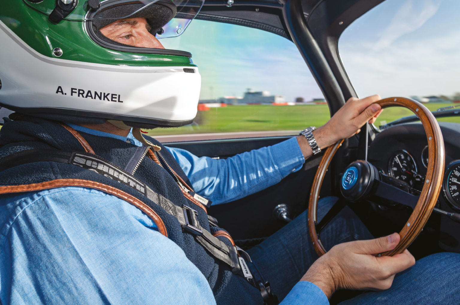 Frankel gets a feel for the 'new' old Aston Zagato